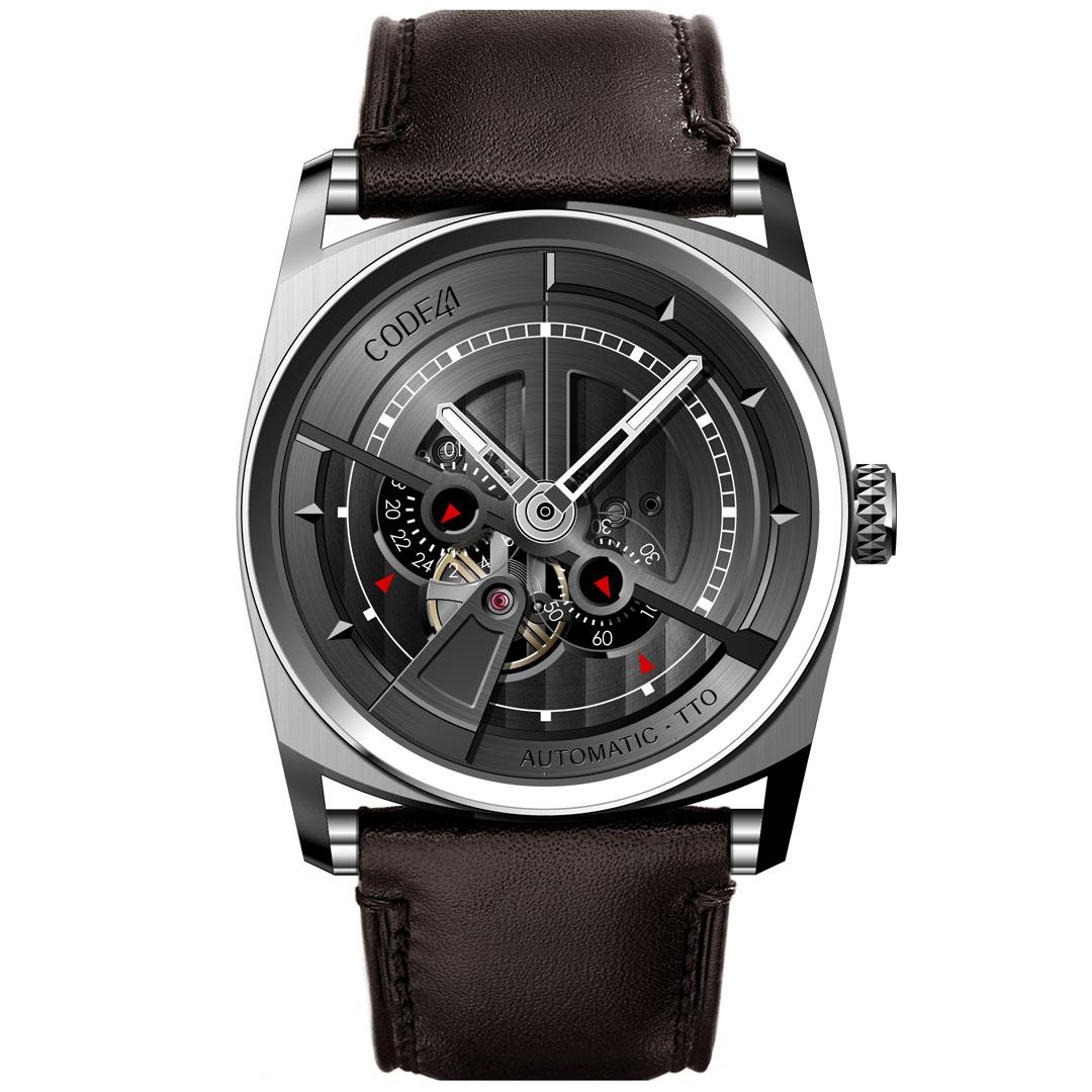AN01-IN-BK-ST-LEA-SEAM-BR-1 - CODE41 watches 5e0b42bb138