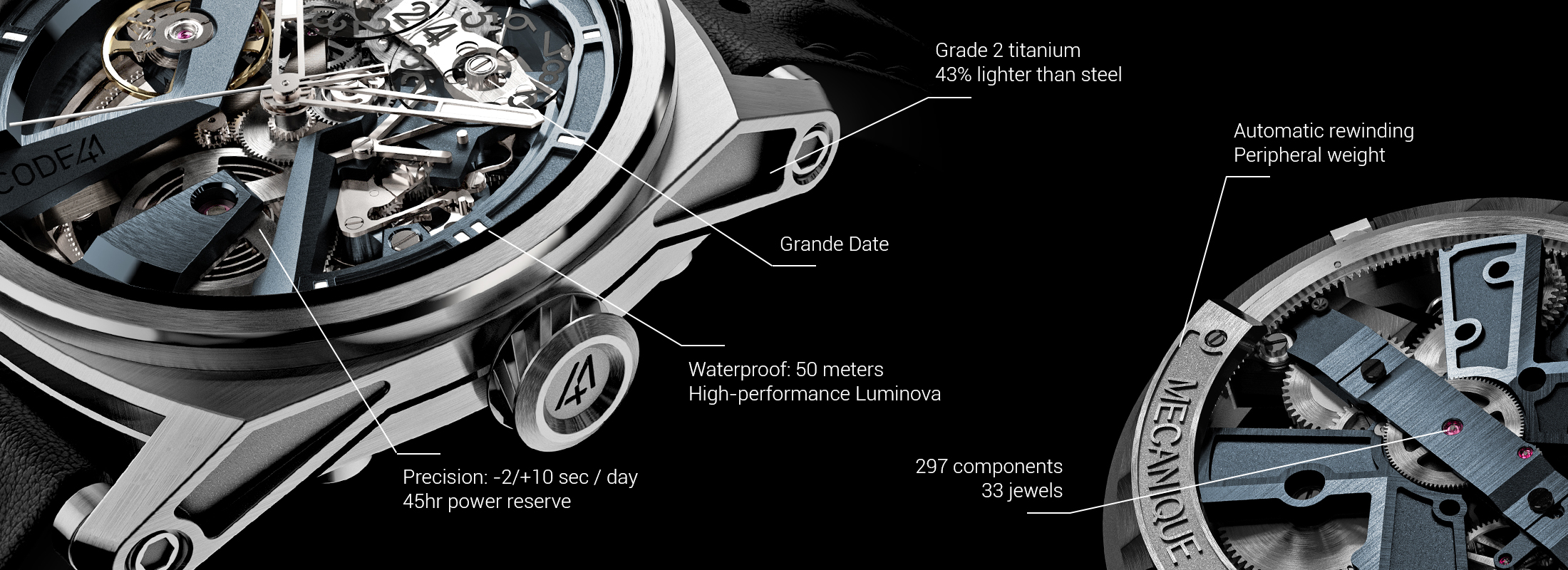 X41 : Quintessential watchmaking